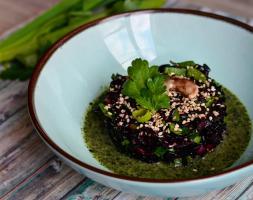 Risotto au riz Nérone et aux algues Wakamé